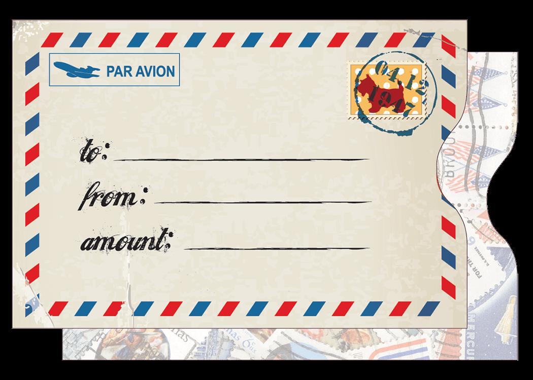 Airmail Card Sleeve