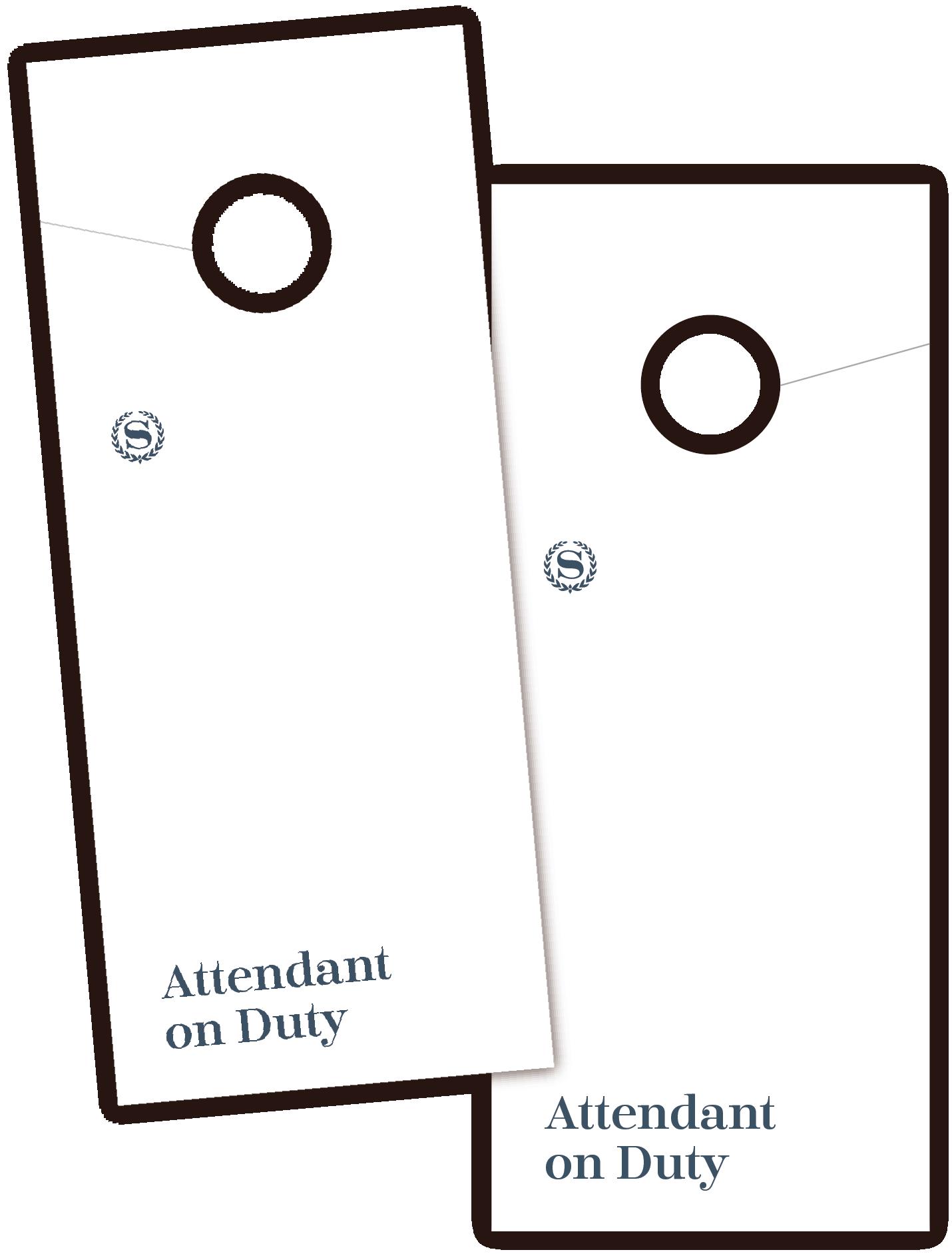 Sheraton Attendant-on-Duty Door Hanger
